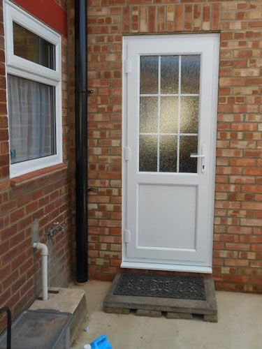 Half Glazed Flat Panel 2xg Style Upvc Back Door With A