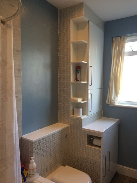 Boiler And Washing Machine Housing Make Over Ikea Hackers Small Bathroom Bathroom Shelf Decor Diy Bathroom Remodel