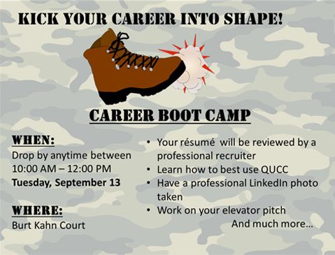 The School of Business Career Boot Camp will get you ready for