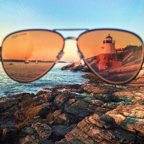 The futures so bright, I gotta wear shades (at Castle Hill Lighthouse)