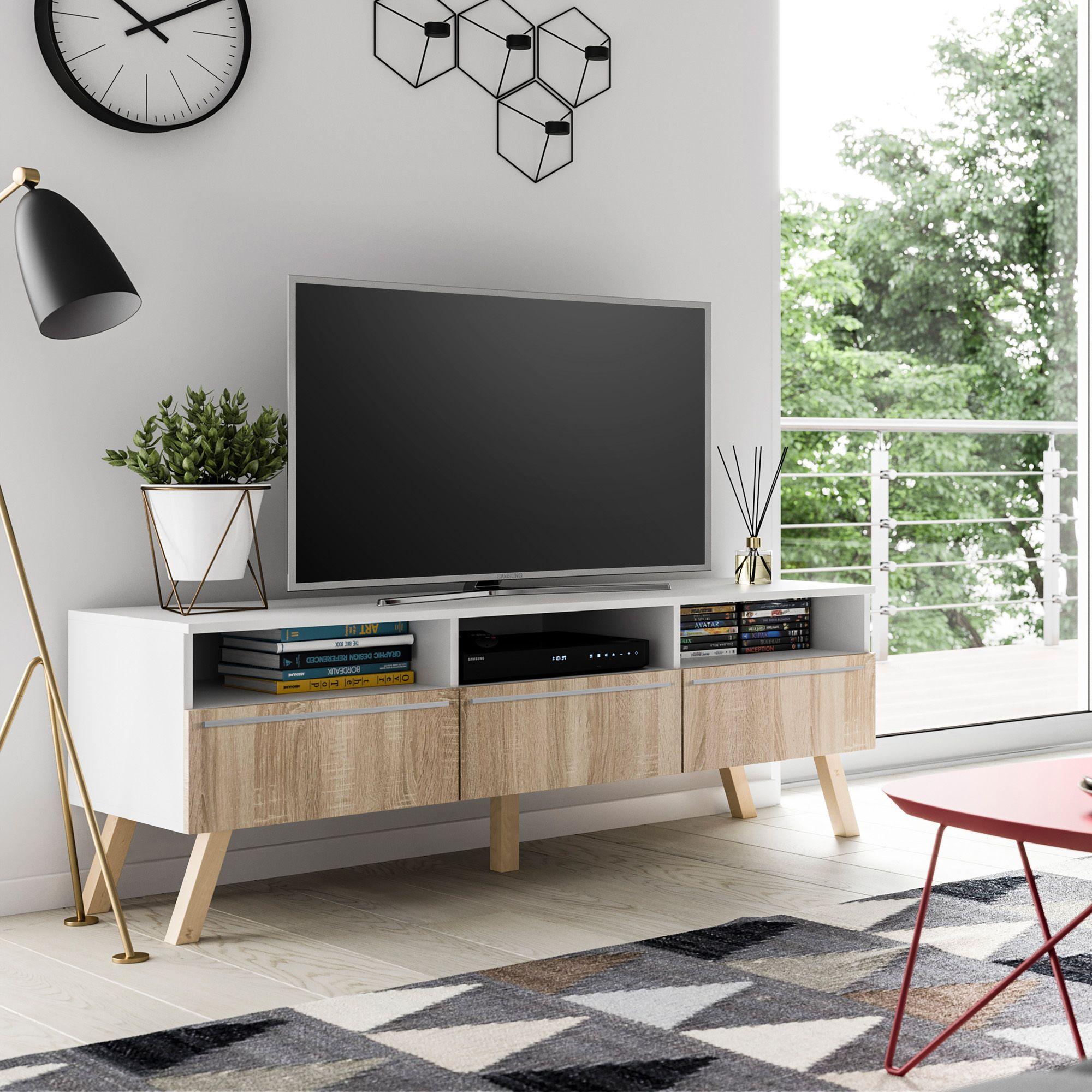 meuble tv meuble salon lavello bois