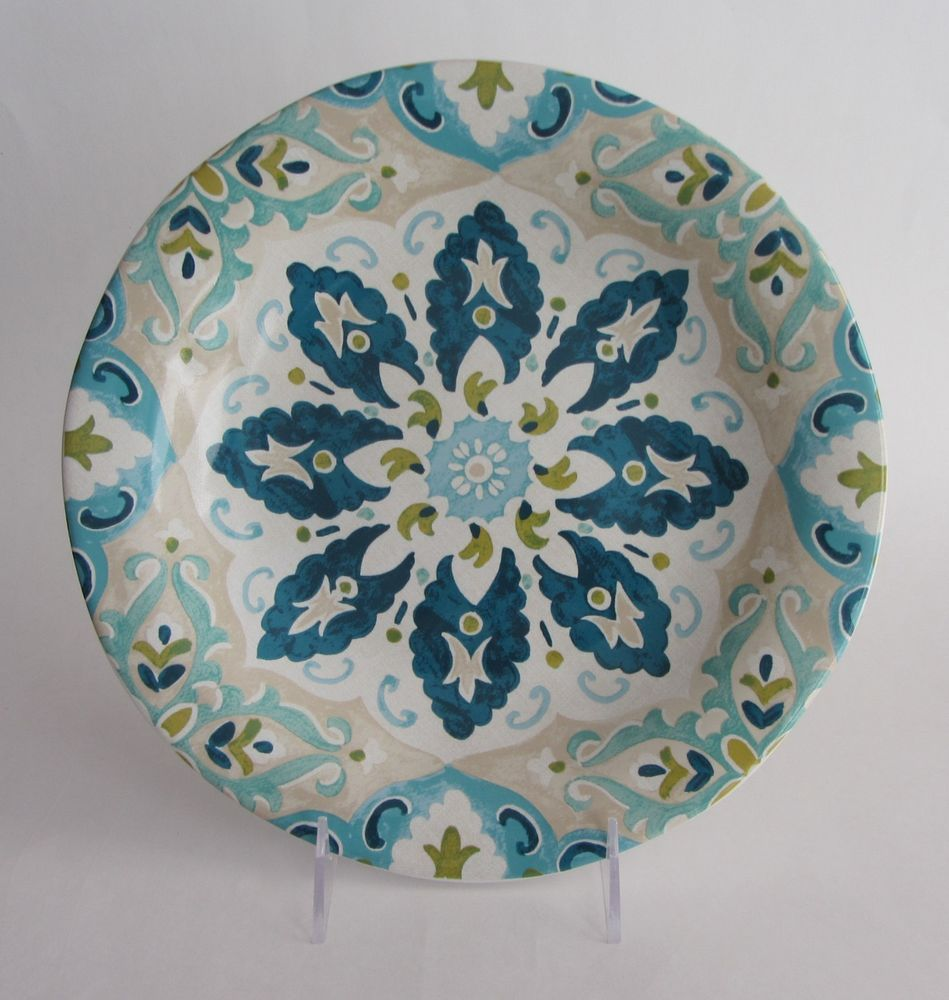 New 222 Fifth Hagan Blue And White Dinner Plates 11 In Round Set Of 4 White Dinner Plates Dinner Plates Blue And White