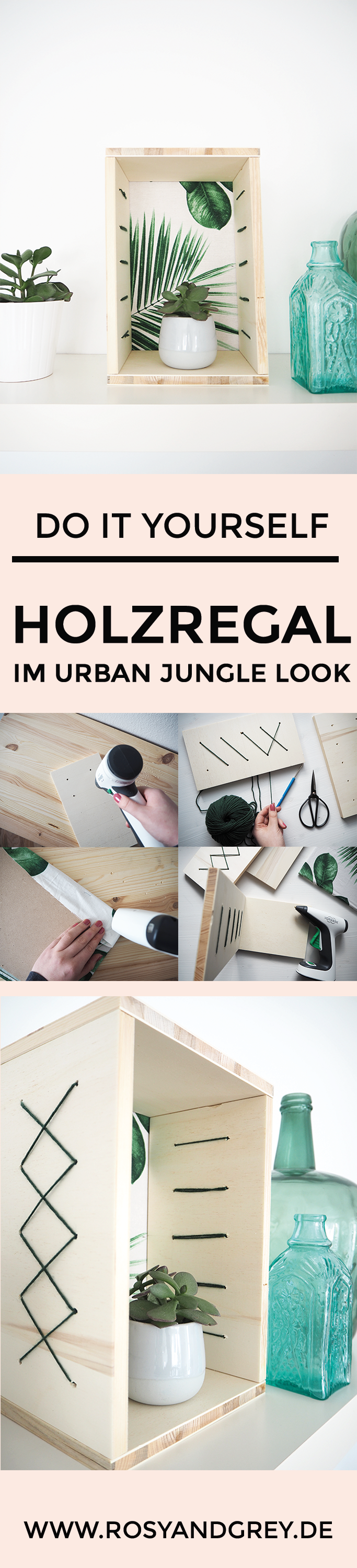 holzregal selberbauen im urban jungle style rosy grey diy blog diy ideen auf deutsch. Black Bedroom Furniture Sets. Home Design Ideas