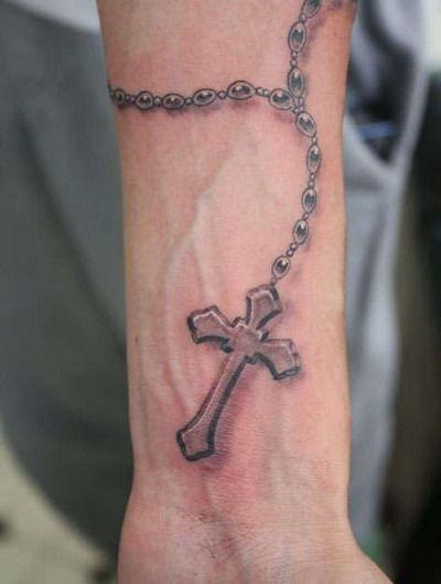 rosary on wrist tattoo | Tattoo You!! | Pinterest ...