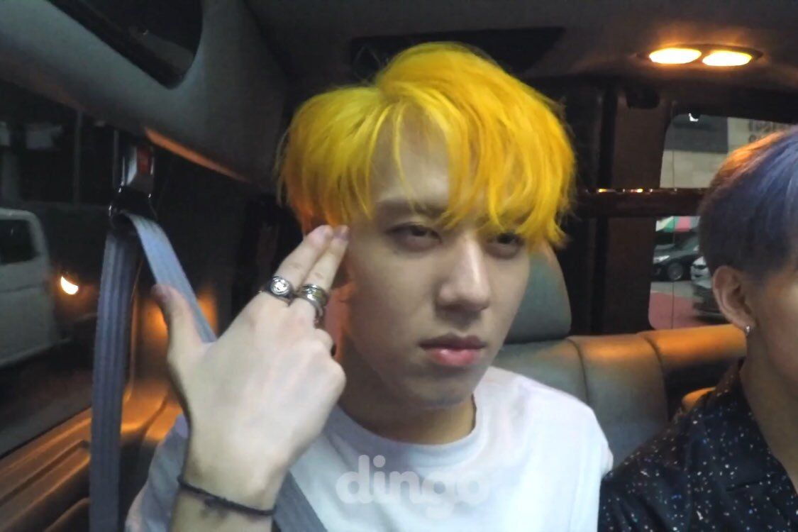 Resultado De Imagen Para Yellow Hair Yugyeom Kpop Yellow Hair