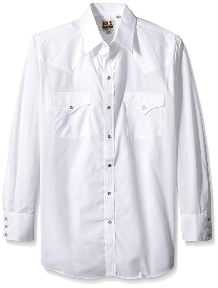 Ely /& Walker Mens Short Sleeve Solid Western Shirt