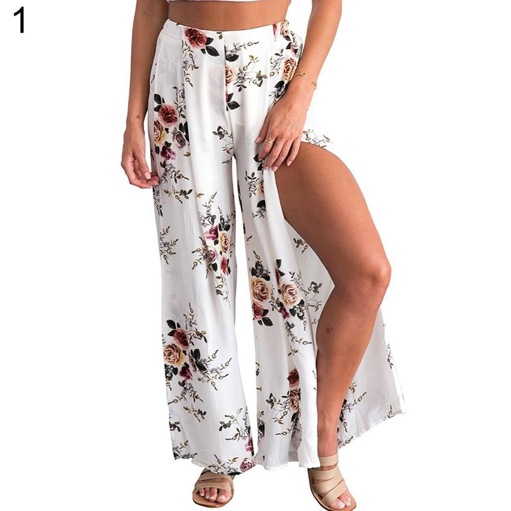db4274b639 Summer Female elegant beach Culottes Palazzo maxi skirt High Waist Floral  Print Wide Leg #ACCESSORIES #PERFECT #MAMA #SIMPLE #WOMEN #GIFTS #CUTE  #AMAZING ...