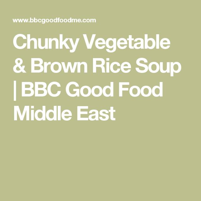 Chunky Vegetable Brown Rice Soup