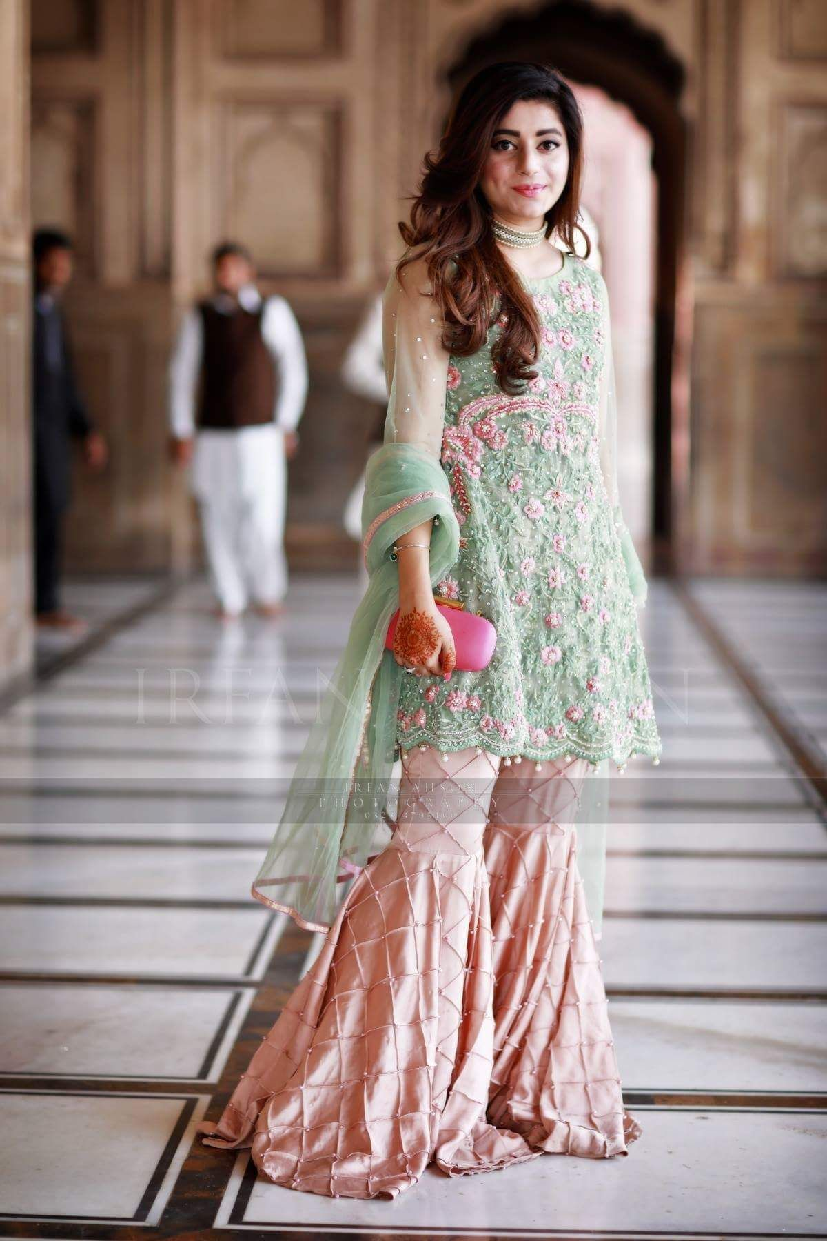 Pakistani sharara desi style pinterest sharara for Pakistani dresses for wedding parties