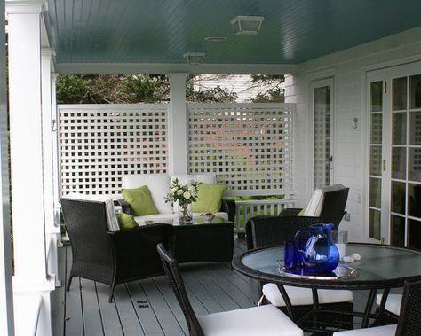 Porch Privacy Idea For Both Sides Of Front Porch Porch Lattice Traditional Porch Porch Privacy