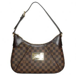 90db8dc8f465 Louis Vuitton Damier Ebene Canvas Thames Pm N48180  Louis  Vuitton  Handbags   Brown  285