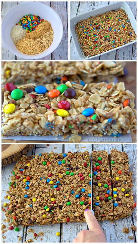 Photo of Homemade Mini M&M Granola Bars Recipe – Crafty Morning
