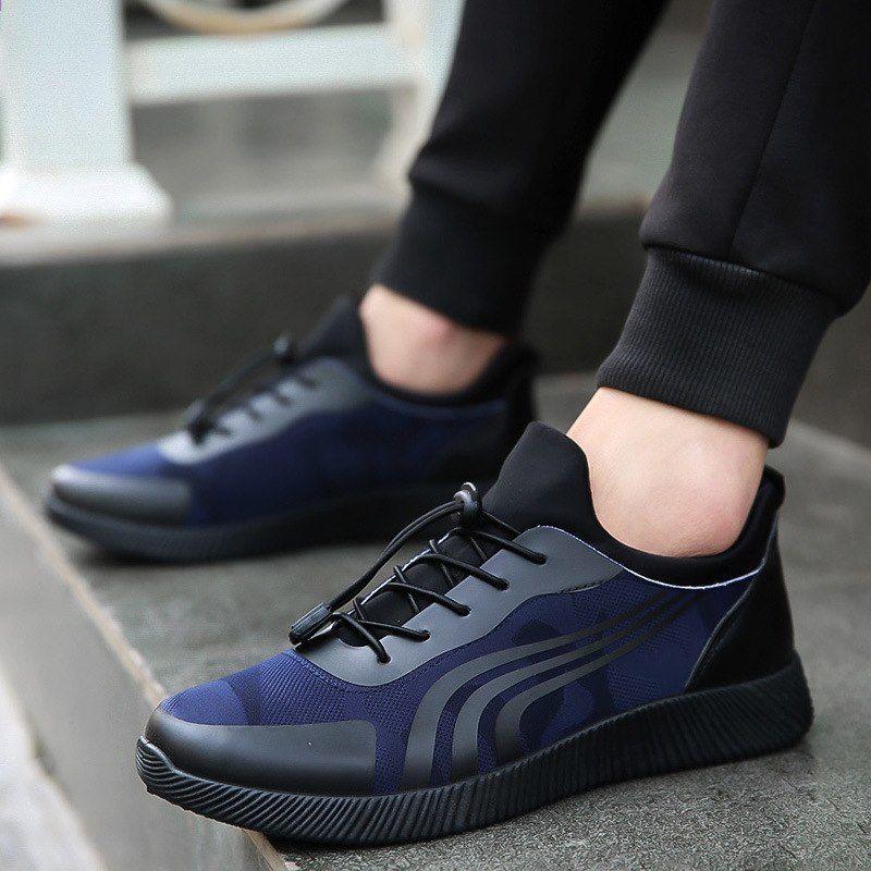 Jesien 2018 Moda Na Wszystkie Mecze Wygodne Nosic Nowe Meskie Buty Na Co Dzien Skorzane Meskie Lekkie Buty Oddychajace Buty Z All Black Sneakers Sneakers Shoes