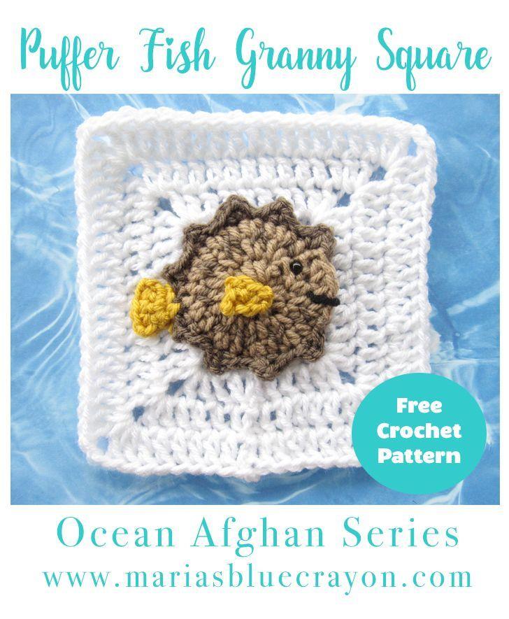 Puffer Fish Granny Square Crochet Pattern - Ocean Afghan Series ...