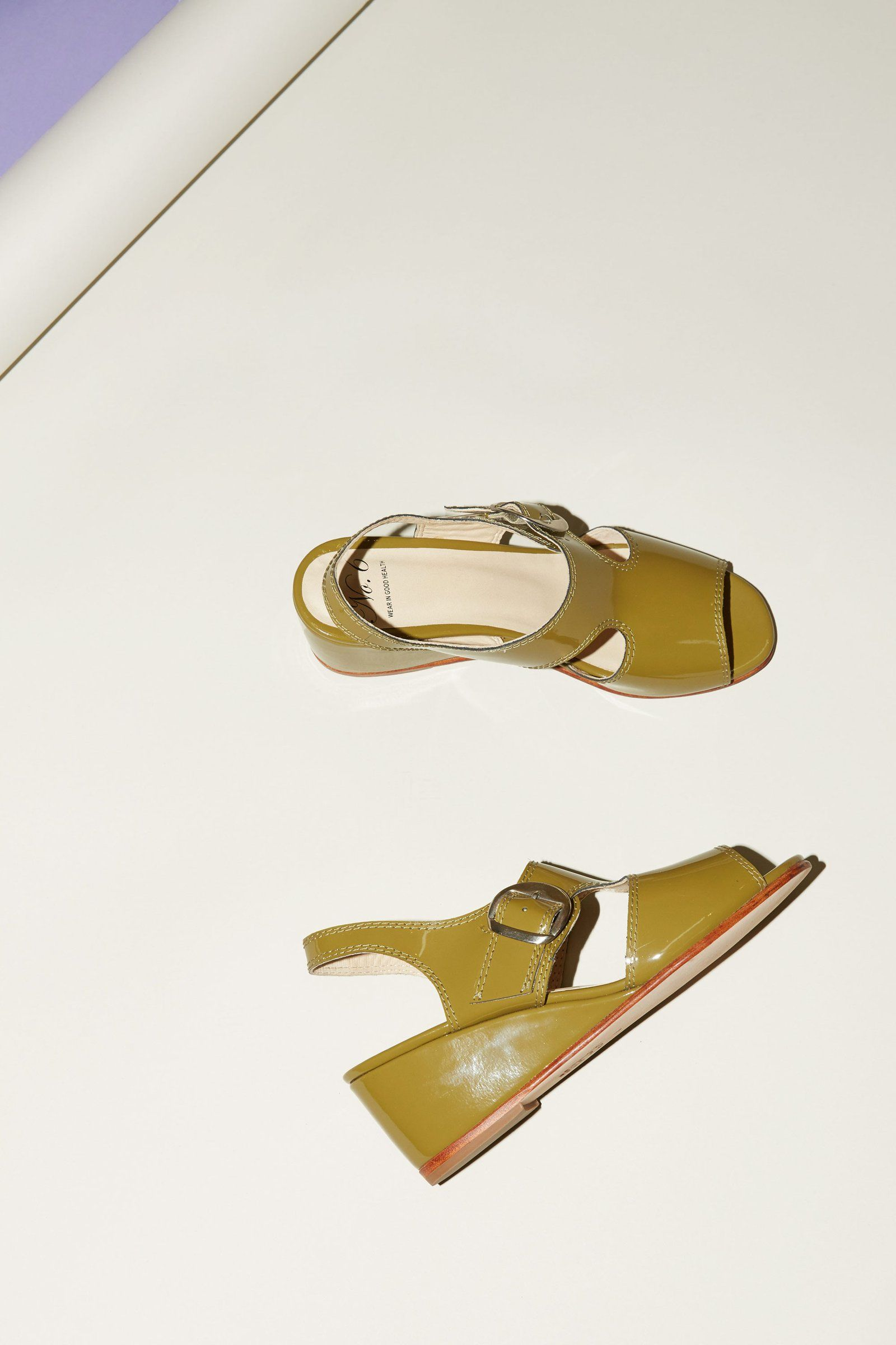 2d1c139a122 No.6 Margo Slingback in Moss Patent