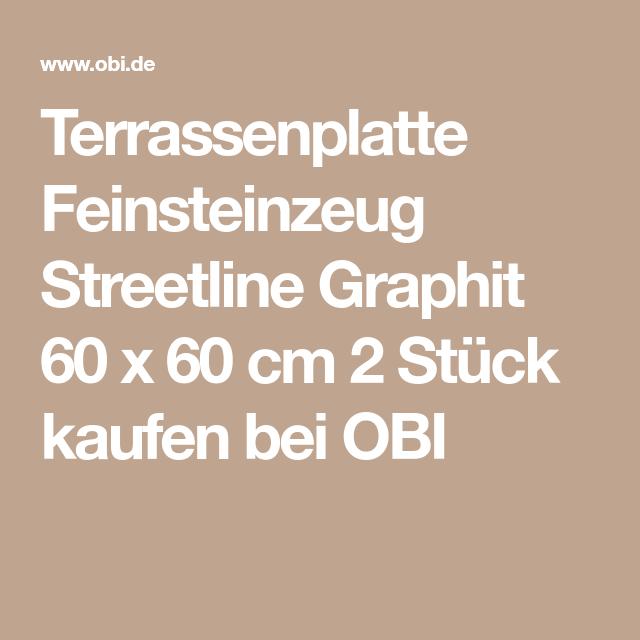 Terrassenplatte Feinsteinzeug Streetline Graphit 60 X 60 Cm 2 Stuck