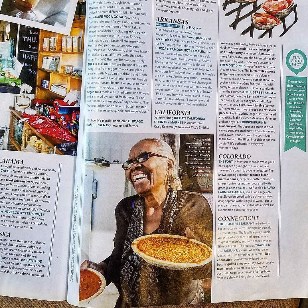 Pies so good they made it into O Magazine at Rhoda's Famous Hot Tamales.  #pie #arkansaspie #makeroomforpie #tamales #rhodasfamoushottamales #tiedyetravelling #aetn