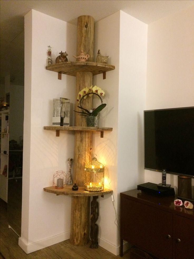 biblioth que tronc d arbre sur pinterest d coration. Black Bedroom Furniture Sets. Home Design Ideas