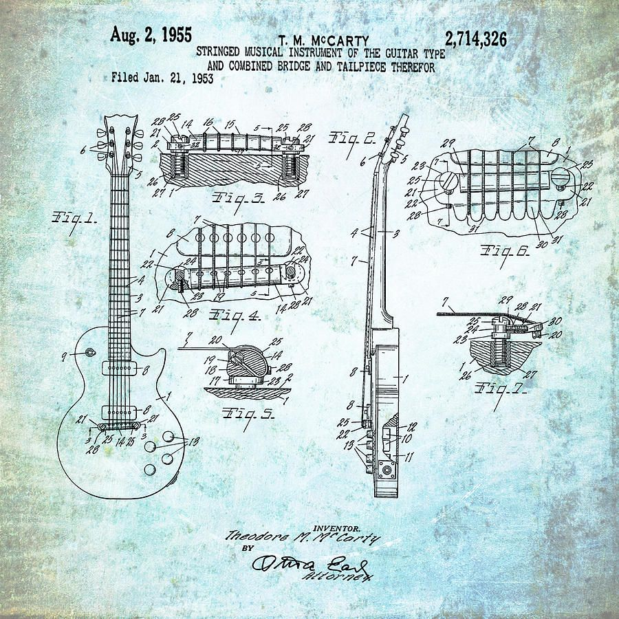 1955-gibson-les-paul-patent-in-weathered-bill-cannon.