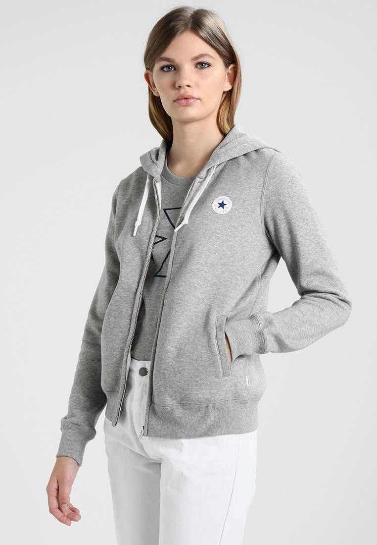 Womens Clothing Converse Womens Core Full Zip Hoodie