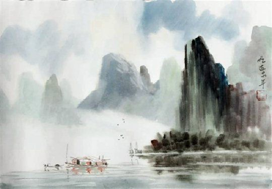 Peter Vilhelm Nielsen Contemporary Chinese Ink And Watercolour