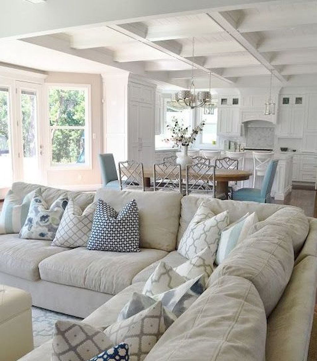 Cozy Lake House Living Room Decor Ideas 11 Coastal Style Living