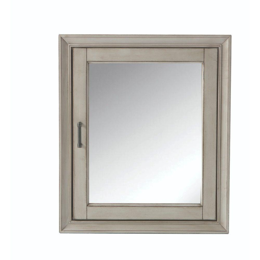 Home Decorators Collection Hazelton 24 In W X 28 In H Framed Surface Mount Bathroom Medicine Cabinet In Antique Grey Hzagmc2428 The Home Depot Bathroom Medicine Cabinet Mirror Cabinets Medicine Cabinet Mirror