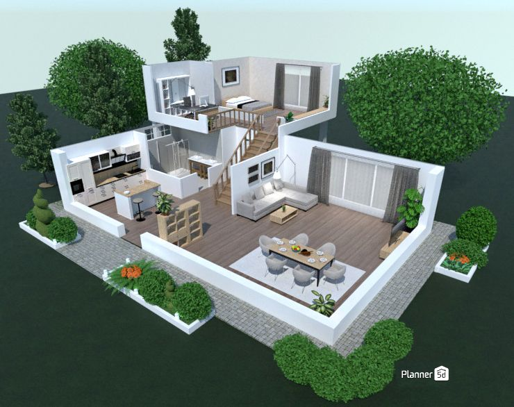 3d Floor Plan Interior Design House Isometric Interior Floor
