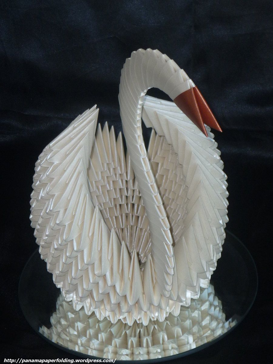 Now This I Have Made But All White And With A Base 3d Origami Pin Swan Diagram On Pinterest