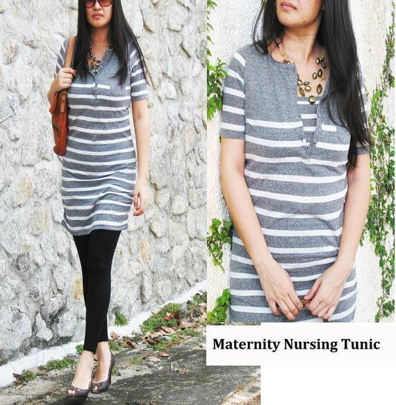 NIKKI Maternity Clothes / Nursing Top / Breastfeeding Tunic Shirt ...