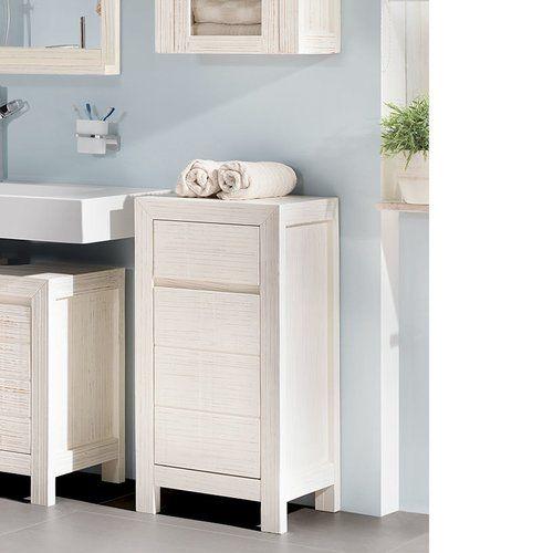 Babylon 45 X 90cm Freestanding Bathroom Cabinet Massivum Colour White White Bathroom Cabinets Bathroom Standing Cabinet Bathroom Cabinets