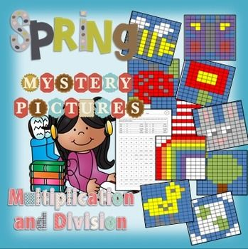 Multiplication and Division Review Mystery Pictures Spring Theme. Have you reviewed multi-digit multiplication and long division with your 4th graders lately? This is the perfect time of year to go over it again and this product makes it fun and easy $