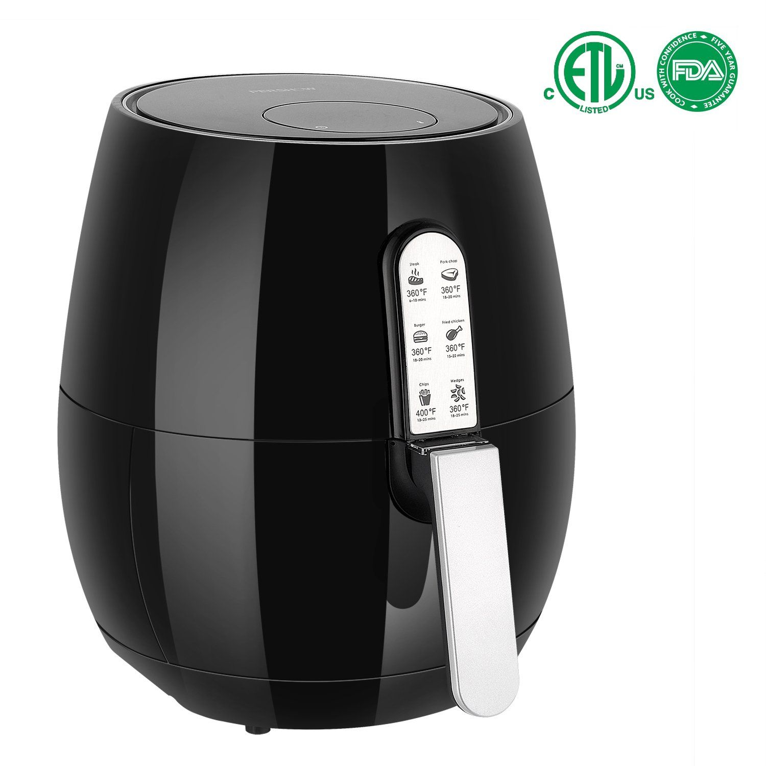 60 off 3.7Quart, Air Fryer, Touch Screen Time and