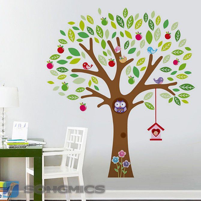 baum wandaufkleber wandsticker wandtattoo wanddeko. Black Bedroom Furniture Sets. Home Design Ideas