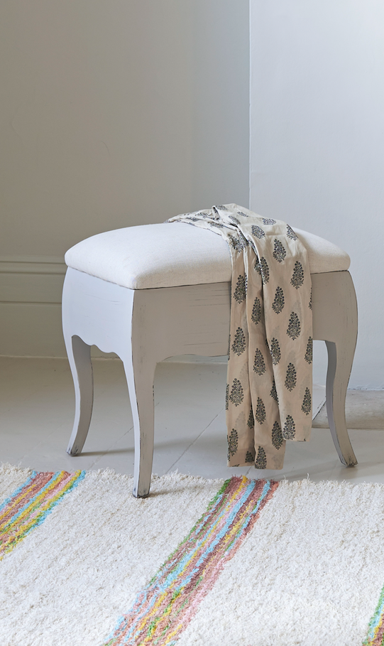 Bon The Small Louise Bedroom Stool Goes With The Thelma Dressing Table.  Hand Painted In