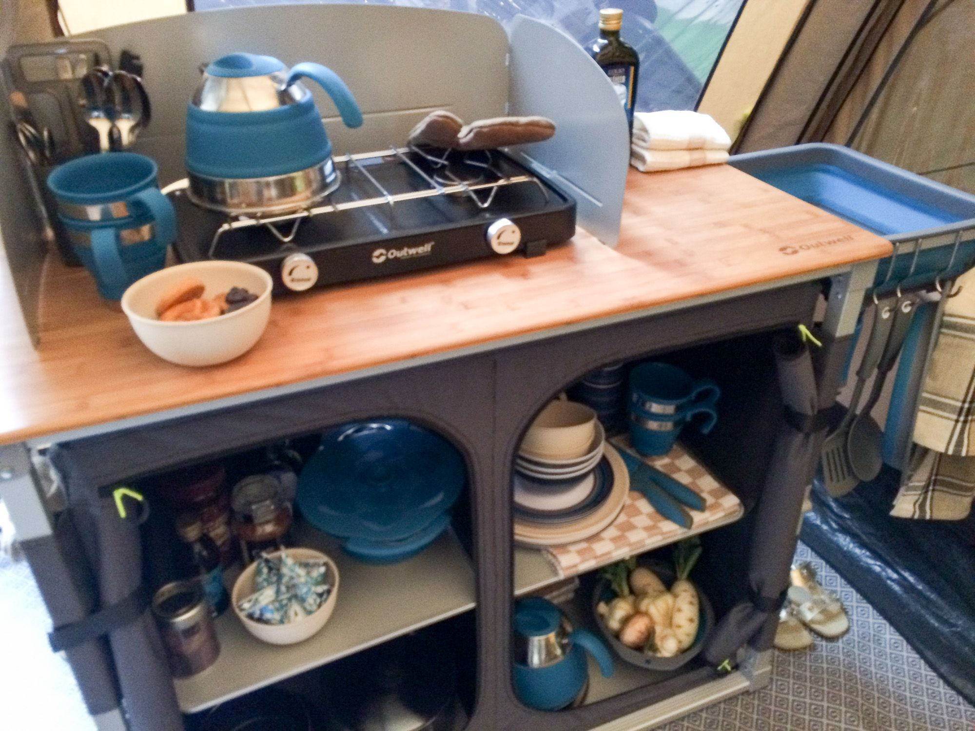 The Outwell Padres Xl Camp Kitchen Furniture Get Out With The Kids Camp Kitchen Camp Kitchen Chuck Box Kitchen Table