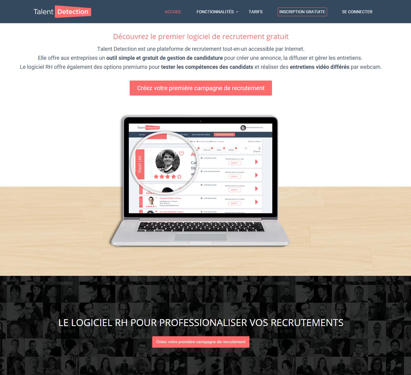 Lancement De Talentdetection Logiciel De Recrutement Pour Les Pme Startups Recrutement Logiciel Lancement