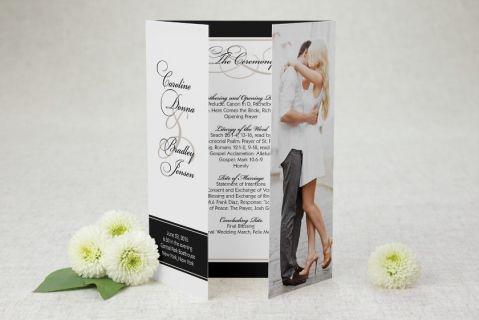 Gate-fold Wedding Programs - Vision of Love MagnetStreet Wedding