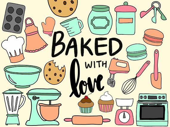 Baking Cooking Clipart Clip Art Cute Doodles Vector Clipart Clipart Doodle Clipart Hand Drawn Clipart Cupcake Clipart Macaron Bake Cooking Clipart Doodles Baking Wallpaper