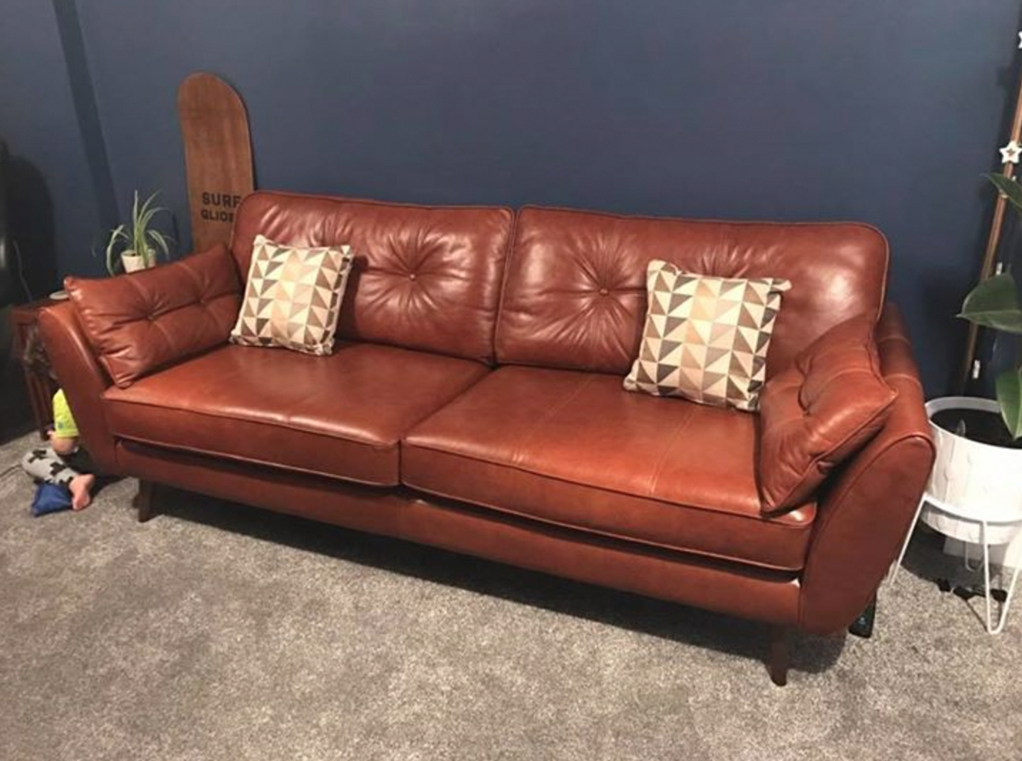 Dfs Leather Zinc Sofa Pinned From Scandi Group Best Leather Sofa