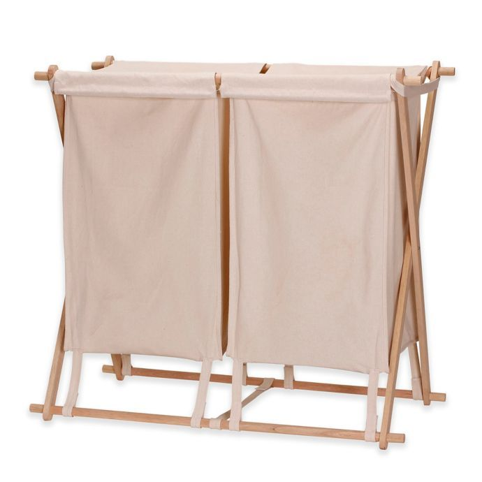 Household Essentials X Frame Collapsible Double Laundry Hamper