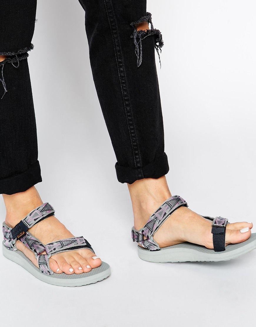 Buy Women Shoes / Teva Original Universal Mosaic Grey Flat Sandals