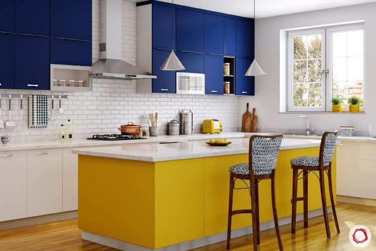 Colour Schemes For Your Kitchen Blue Kitchen Designs Yellow