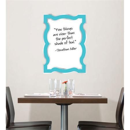Jonathan Adler For Wallpops Blue Enamel Dry Erase Board