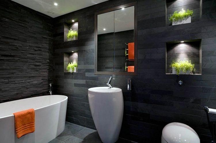 beautiful salle de bain avec carrelage ardoise contemporary - Carrelage Ardoise Salle De Bain