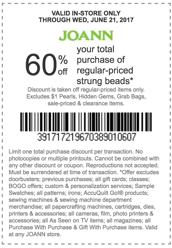 joanns coupon 60