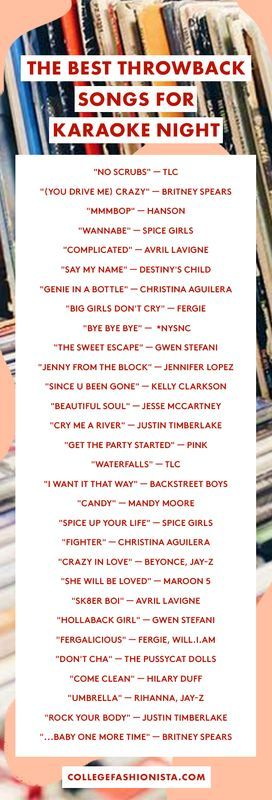 The best throwback karaoke playlist for your next party.