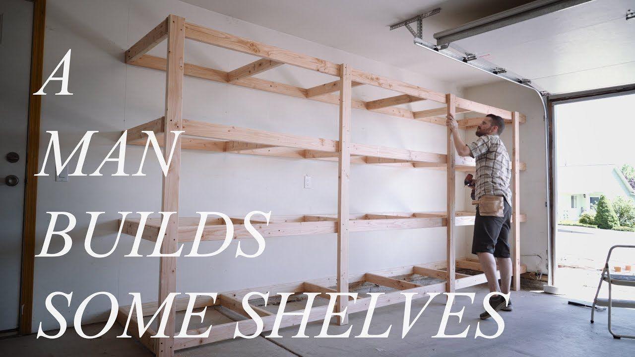 Garage Storage Shelves EASY BUILD EXPLAINED YouTube