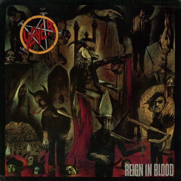 Slayer Reign In Blood Vinyl Lp Album Poster Art Reign In Blood Metal Albums Thrash Metal