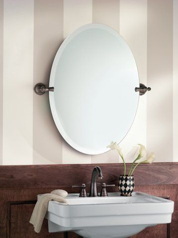 Moen Dn0892 26 Tall Oval Tilting Mirror From The Gilcrest Collection